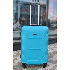 Пластиковый чемодан Wings Краб голубой
