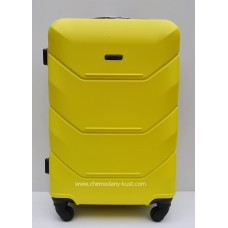 Пластиковый чемодан Wings Краб Желтый
