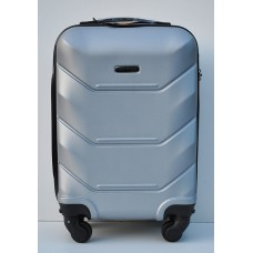Маленький чемодан на колесах Wings Краб серебро