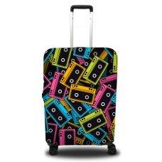 Чехол на чемодан с принтом Касета