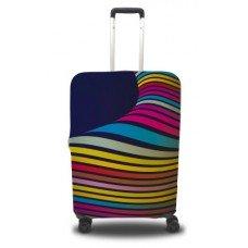 Чехол на чемодан разноцветные волны