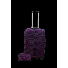 Чехол на чемодан Дайвинг фиолетовые волны