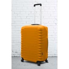 Неопреновый чехол на чемодан желтый