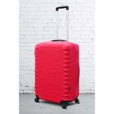 Неопреновый чехол на чемодан Coverbag красный