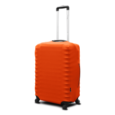 Неопреновый чехол на чемодан оранжевый
