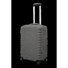 Неопреновый чехол на чемодан серый