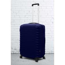 Неопреновый чехол на чемодан синий