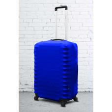 Неопреновый чехол на чемодан синий электрик