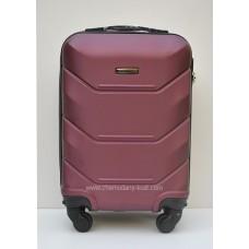 Маленький чемодан на колесах Wings Краб Бордовый
