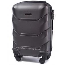 Маленький чемодан на колесах Wings Краб Графит