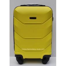 Маленький чемодан на колесах Wings Краб Желтый